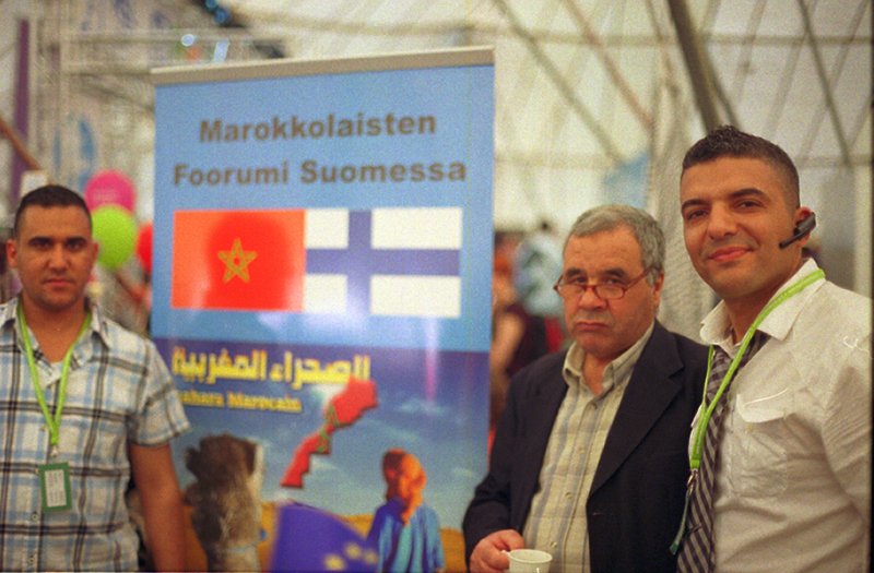 Karim (36, Morocco, on the right) <br> <small> Since 10 years they provide information about their country, organise community-meetings of moroccan people living in Finland (there are aprox. 2000 moroccan people living in this country). </small>