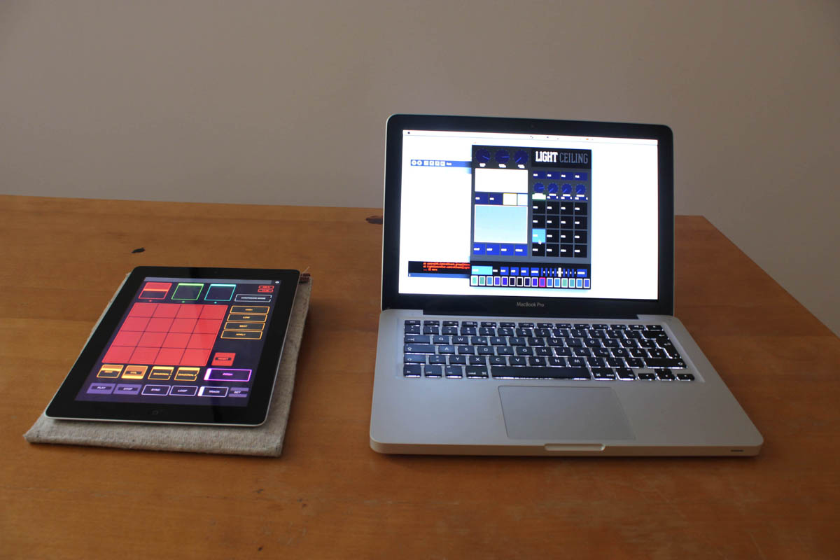 TouchOSC on iPad + Processing controller software